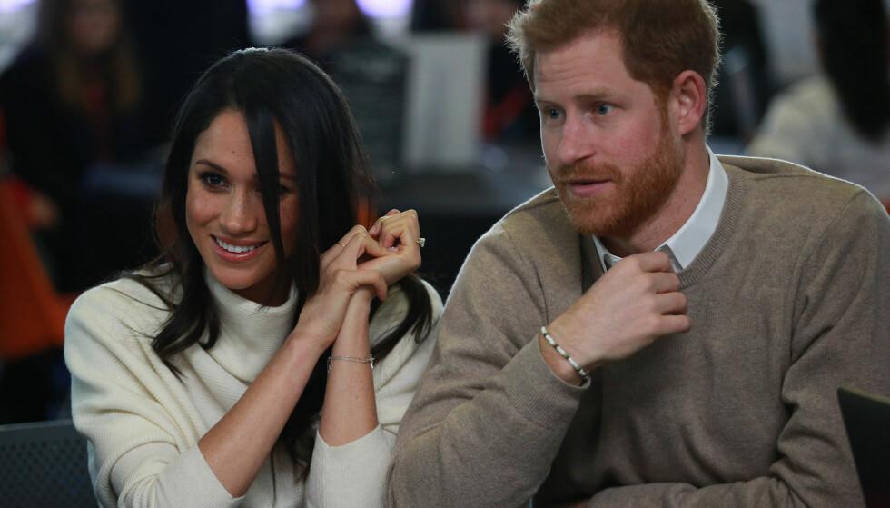 <strong>PENT PAR:</strong> Den 19. mai gifter Meghan Markle og prins Harry seg. Det er ventet at de da, i tillegg til å bli rette ektefolk, får tildelt et hertugdømme av dronningen i bryllupsgave. Foto: NTB scanpix