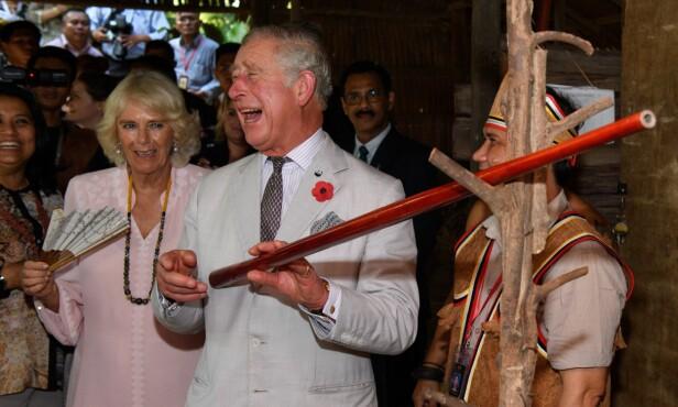 PÅ REISE: Prins Charles og hertuginne Camilla på ofisielt besøk i Malaysia i 2017. Foto: Shutterstock/ NTB scanpix