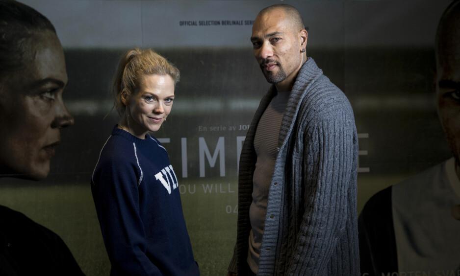 TPV-AKTUELLE: Skuespillerne Ane Dahl Torp og John Carew spiller hovedrollene i den nye NRK-serien Heimebane. Foto: Tore Meek / NTB scanpix
