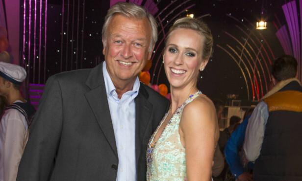 PROFILERT FAMILIE: Pappa Hallvard Flatland var med og støttet Katarina da hun deltok i «Skal vi danse» på TV 2 i 2015 Foto: Tor Lindseth/ Se og Hør