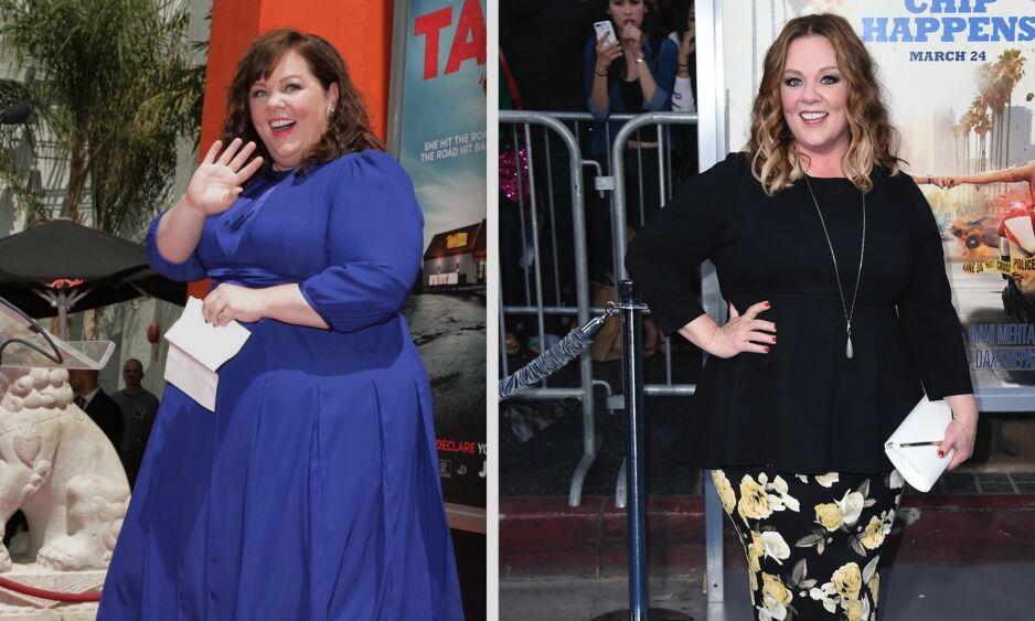 34 KILO LETTERE: Melissa McCarthy har lagt om livsstilen og raser ned i vekt. Skuespilleren er snart aktuell i komedien «Life of The Party». Foto: NTB Scanpix