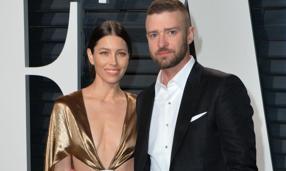 DRAMATISK FØDSEL: Da Jessica Biel og Justin Timberlake ble foreldre for første gang for tre år siden, gikk ikke ting som planlagt. Det avslører paret i en ny bok. Foto: NTB scanpix