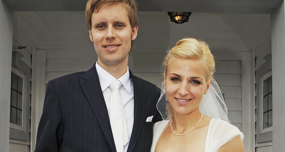 OVERRASKET MANNEN: Da Guri Solberg giftet seg med musiker David Chelsom Vogt i 2008, trådte hun til med et musikalsk innslag. Foto: Anders Martinsen/ Se og Hør