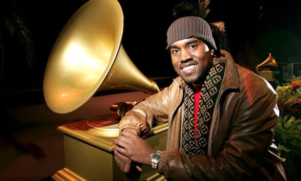 ENORM SUKSESS: I 2004, to år etter sitt store gjennombrudd, fikk Kanye West hele ti Grammy-nominasjoner. Foto: NTB scanpix