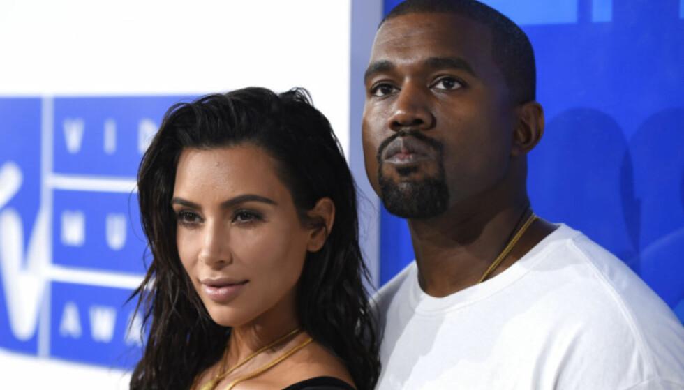 STJERNEPAR: Kim Kardashian og Kanye West giftet seg i 2014, og i dag har de tre barn sammen. Foto: NTB scanpix