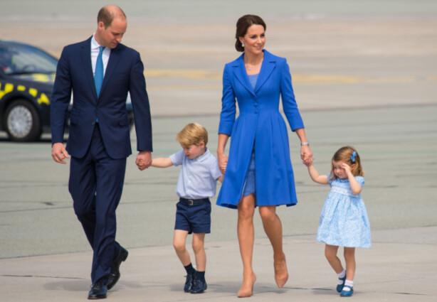 <strong>EN AV HVER:</strong> Kate og William har en sønn og en datter fra tidligere. Denne gangen vet de ikke kjønnet på barnet. Foto: NTB Scanpix