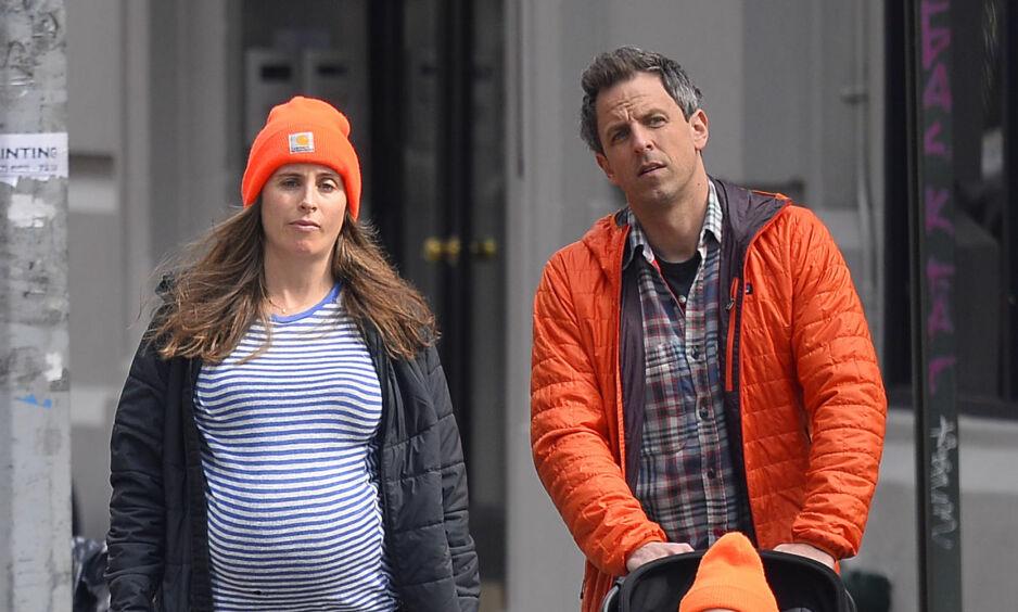 DRAMATISK FØDSEL: Seth Meyers og kona Alexi Ashe har blitt foreldre for andre gang - denne gang på litt mer dramatisk vis. Foto: NTB Scanpix