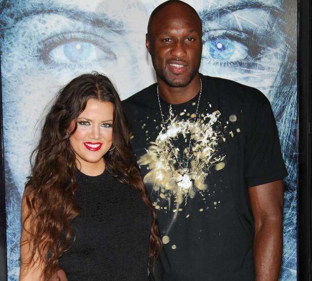EKS: Khloé og Lamar giftet seg knappe ni dager etter han gikk ned på kne. Ekteskapet stod ikke til å redde. Foto: NTB Scanpix