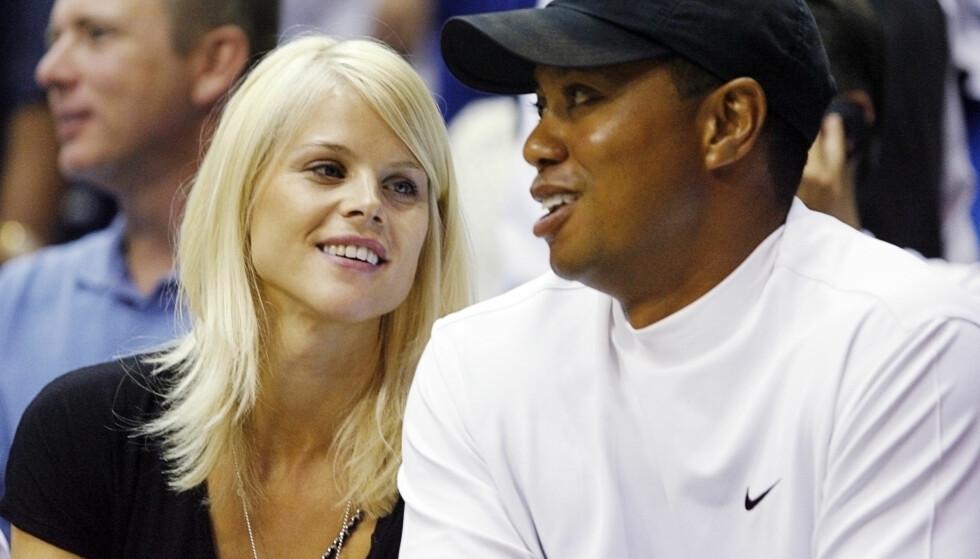 SEKS ÅR SAMMEN: Tiger Woods og Elin Nordegren var gift fra 2004 til 2010. Her er de avbildet sammen i 2009, før Tigers utroskap ble avslørt. Foto: REUTERS / Hans Deryk