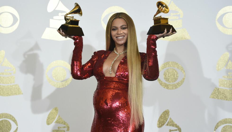 VINNER: Beyoncé vant en Grammy for beste urbane album med albumet «Lemonade», der en av sangene handlet om ektemannens sidesprang. Foto: Chris Pizzello/Invision/AP