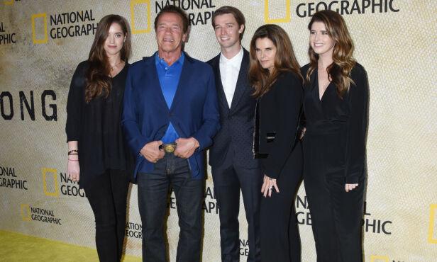 FORTSATT VENNER: Arnold har fortsatt et godt forhold til ekskona Maria Shiver og deres tre barn. Foto: NTB Scanpix