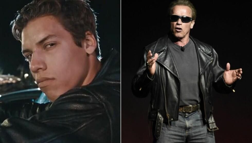 STOR LIKHET: Det er ingen tvil om at Joseph er sønnen til «Terminator»-stjernen Arnold Schwarzenegger. Foto: NTB