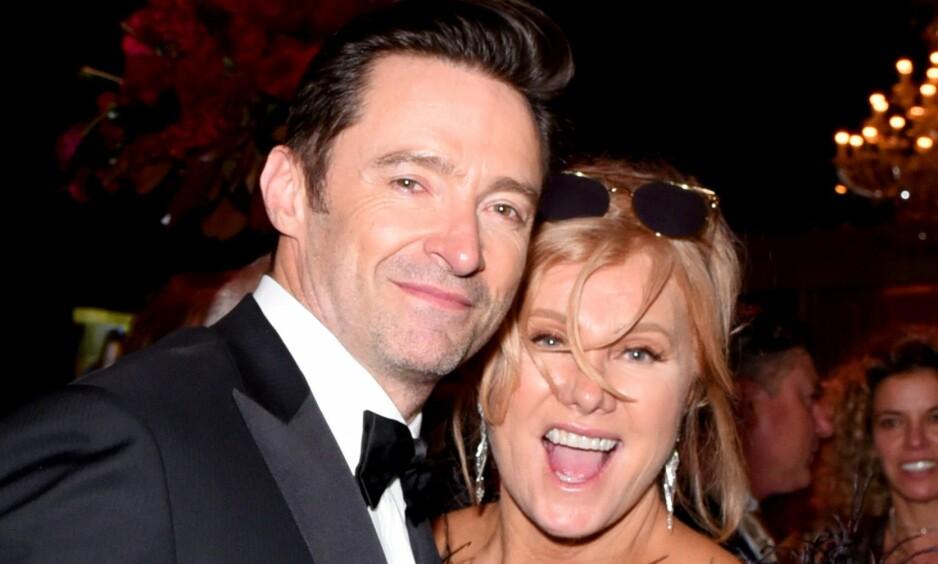 GIFT 22 ÅR: Skuespilleren Hugh Jackman og kona Deborra-Lee Furness hadde nylig sin 22-års bryllupsdag. I den anledning benyttet Hugh seg til å hylle sin kjære i et innlegg på sosiale medier. Foto: NTB Scanpix