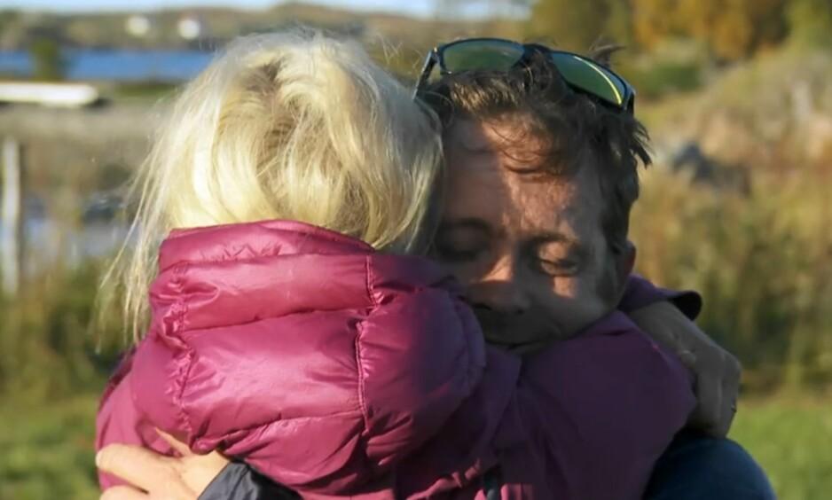 MÅTTE HJEM: Lars Erik Blokkhus ble den femte deltakeren til å forlate «71 grader nord - Norges tøffeste kjendis» denne sesongen. Han forteller at han ga alt, men at det ikke var nok. Foto: Skjermdump