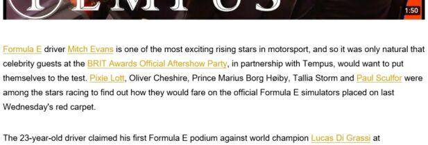 FØR: Midt mellom navnene til Oliver Cheshire og Tallia Storm, sto Marius Borg Høiby titulert som prins. Navnet hans ble brukt for å gi inntrykk av hvor kjendisspekket etterfesten til BRIT Awards faktisk var. Foto: Skjerump
