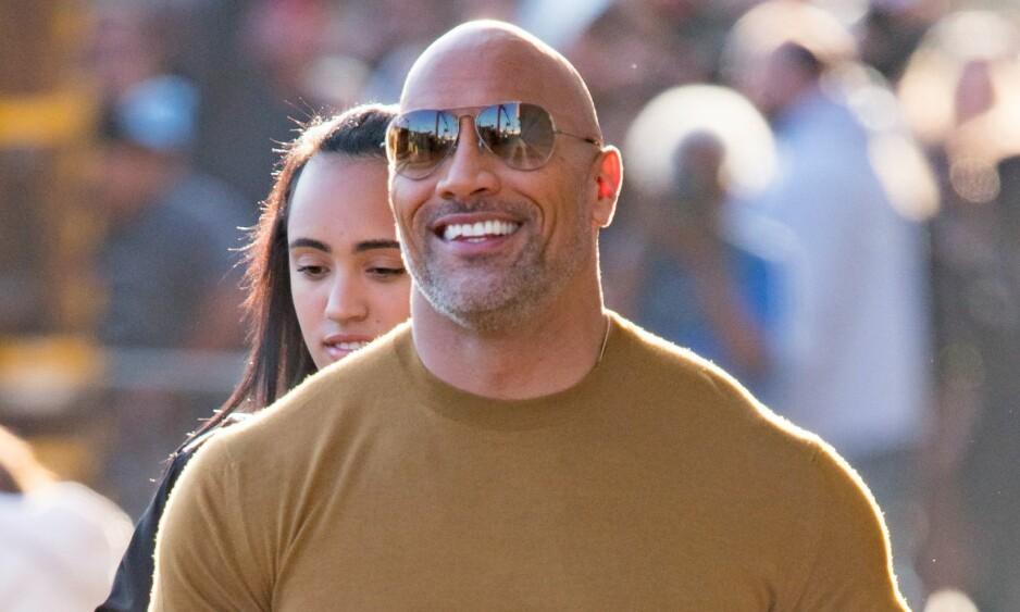 <strong>BLE PAPPA:</strong> Lykken smiler for Dwayne Johnson, som mandag avslørte at han er blitt pappa til en liten jente - for tredje gang. Foto: NTB Scanpix