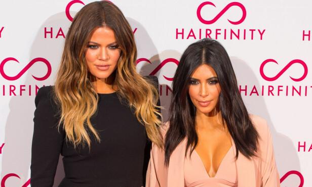 - UVENNER: Khloé og Kim Kardashian er både søstre og nære venninner, men ifølge flere kilder skal det ha oppstått drama mellom dem. Foto: NTB scanpix