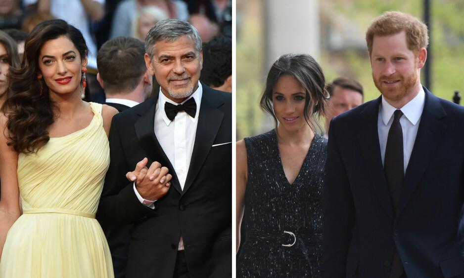 INVITERT?: Det som angivelig skal være Meghan Markles frisør på bryllupsdagen, hevder han også skal stelle Amal Clooneys lokker den samme dagen. Det kan tyde på at ytteligere to gjester til det storslåtte prinsebryllupet er avslørt. Foto: NTB Scanpix.