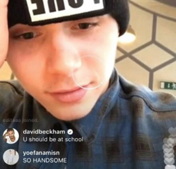 FAMILIEKJÆRLIGHET: Det lyste ut kjærlighet av tøysinga til pappa David på Instagram. Foto: Skjermdump / Instagram