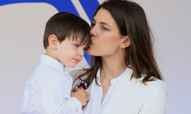 SNART TOBARNSMAMMA: Charlotte har sønnen Räphael fra et tidligere forhold, og skal nå vente barn nummer to. Foto: REX/ Shutterstock/ NTB scanpix