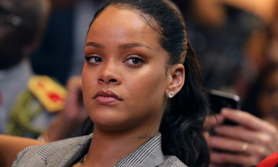 SNAKKER UT: I et nytt intervju med Vogue snakker Rihanna for første gang om sitt nye forhold til Hassan Jameel, etter det sjokkerende bruddet med artisten Drake. Foto: NTB Scanpix