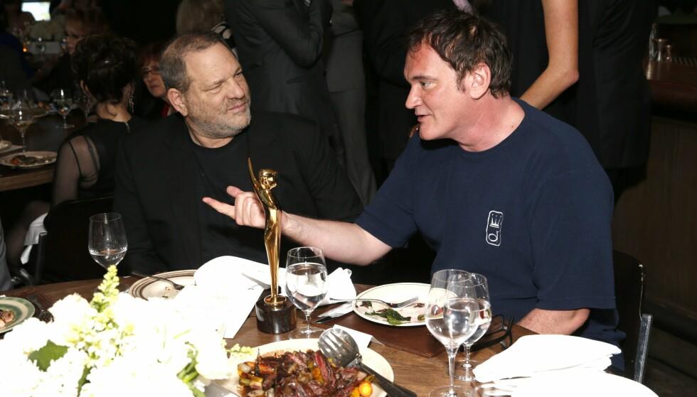 <strong>VILLE SKVISE UT JACKSON:</strong> Tidligere filmmogul Harvey Weinstein (t.v.) skal ha ønsket å overlate «Ringenes Herre»-jobben til regissør Quentin Tarantino (t.h.) om Peter Jackson ikke føyde seg. Foto: AP/ NTB scanpix