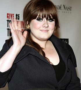 GJENNOMBRUDD: Adele slo for alvor gjennom i 2008. Her er hun avbildet i New York samme år. Foto: AP / Andy Kropa