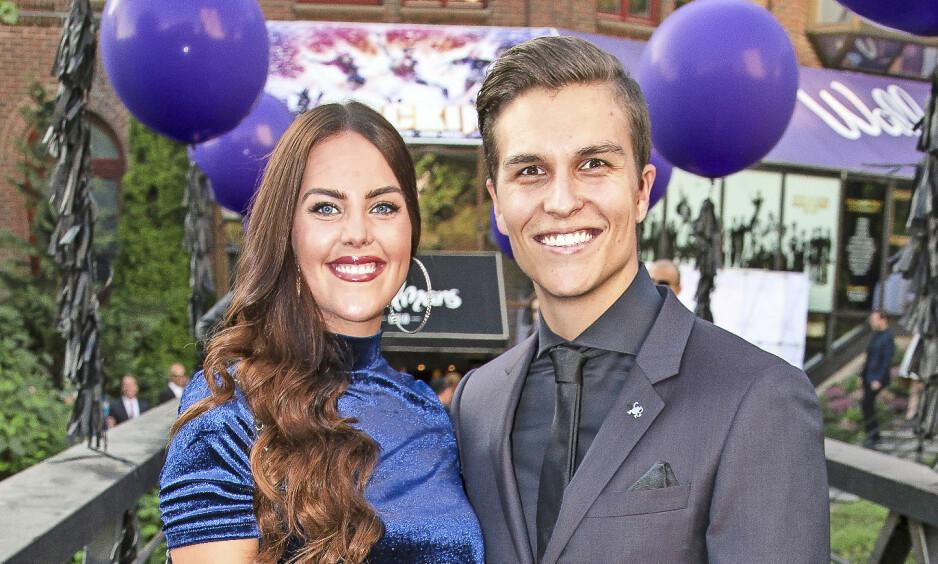 PAR I HJERTER: Atle og TV 2-journalisten Cathrine Eide er lykkelig forelsket, og sikter mot bryllup i 2019. Her er paret på Wallmans-show i Oslo i 2016. Foto: Tore Skaar.