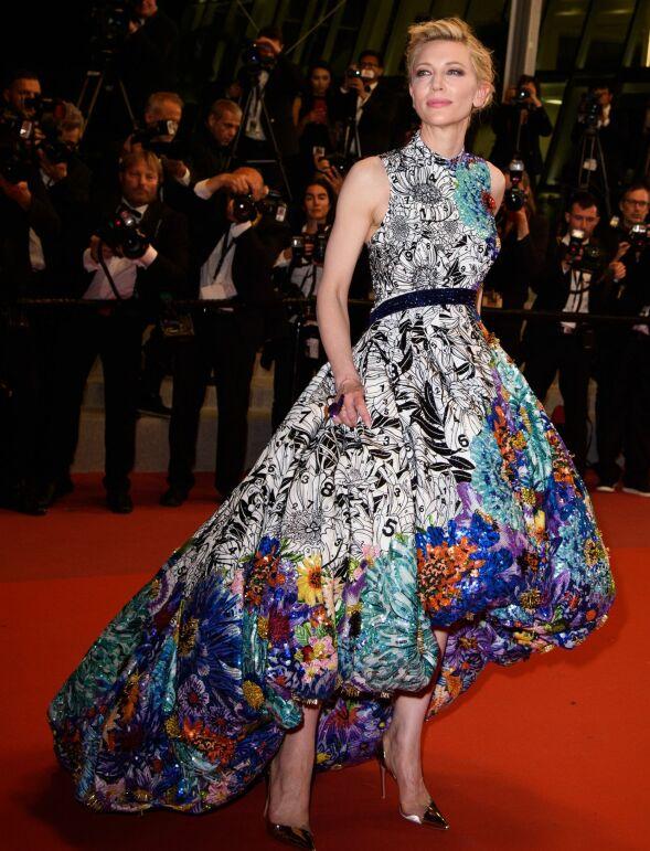 FARGERIK: Juryleder Cate Blanchett på «Cold War»-premieren i Cannes. Foto: JN Davidson/ SHM/ REX/Shutterstock/ NTB scanpix