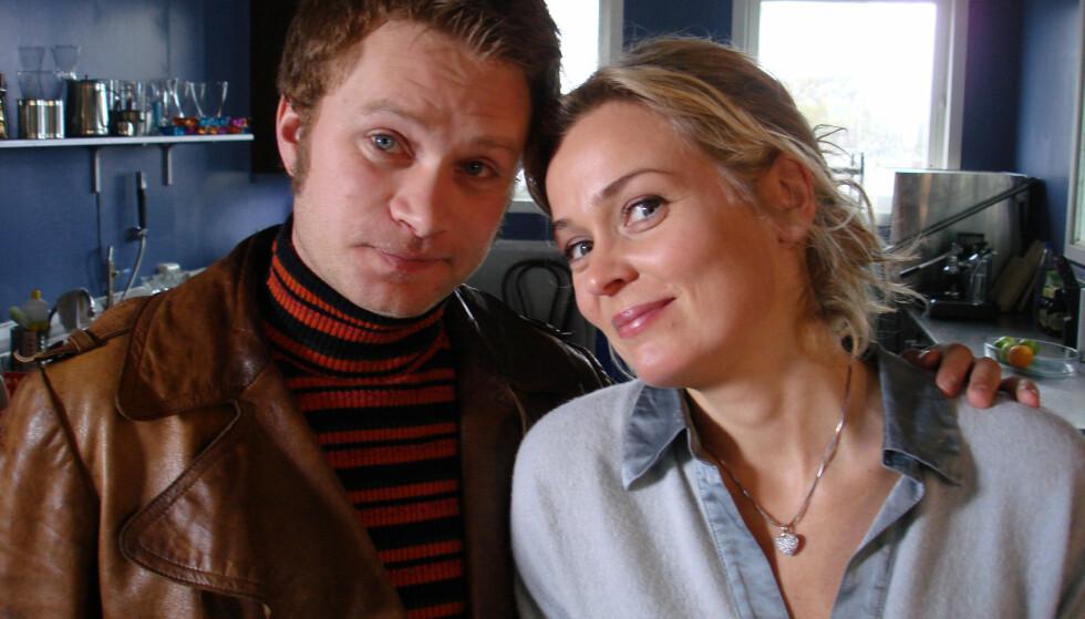 MOTSPILLERE: Edward Schultheiss og Line Verndal spilte bestevenner i «Himmelblå» på NRK. Foto: NRK