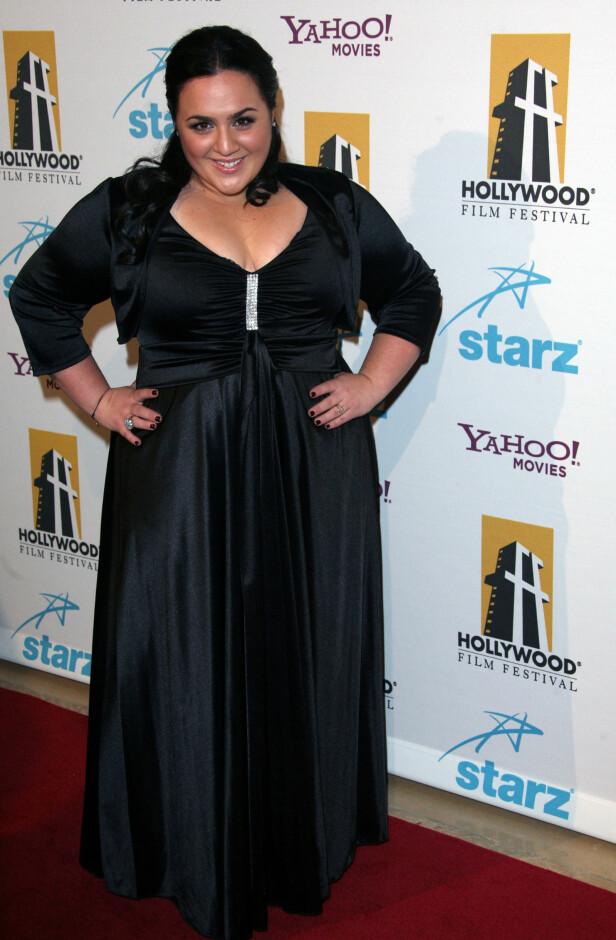 <strong>HARD KAMP:</strong> Skuespillerbransjen har vært alt annet enn bare enkel for Nikki Blonsky. Her poserer hun for fotografene under Hollywood Awards Gala Ceremony i 2007. Foto: NTB Scanpix.