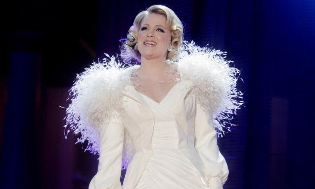 2011: Maria Haukaas Mittet synger VM-sangen Glorious under åpningen av Ski-VM på Universitetsplassen. Foto: Stian Lysberg Solum / SCANPIX