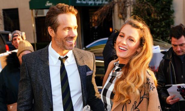 <strong>FORELDRE:</strong> Det populære paret Blake Lively og Ryan Reynolds er i dag tobarnsforeldre. Foto: NTB Scanpix