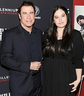 I 2013: John Travolta og datteren Ella Travolta på en visning av «Killing Season». Foto: NTB scanpix