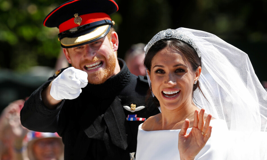MEGHAN GRAVID: Siden Meghan og Harry giftet seg 19. mai, har mange ventet spent på familieforøkelse. Nå bekrefter det britiske kongehuset at hertuginnen er gravid. Foto: Reuters / NTB scanpix