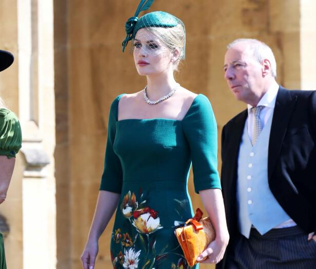 MOTERIKTIG: Lady Kitty Spencer var ikledd en lekker kjole fra Dolce & Gabbana. Foto: NTB scanpix