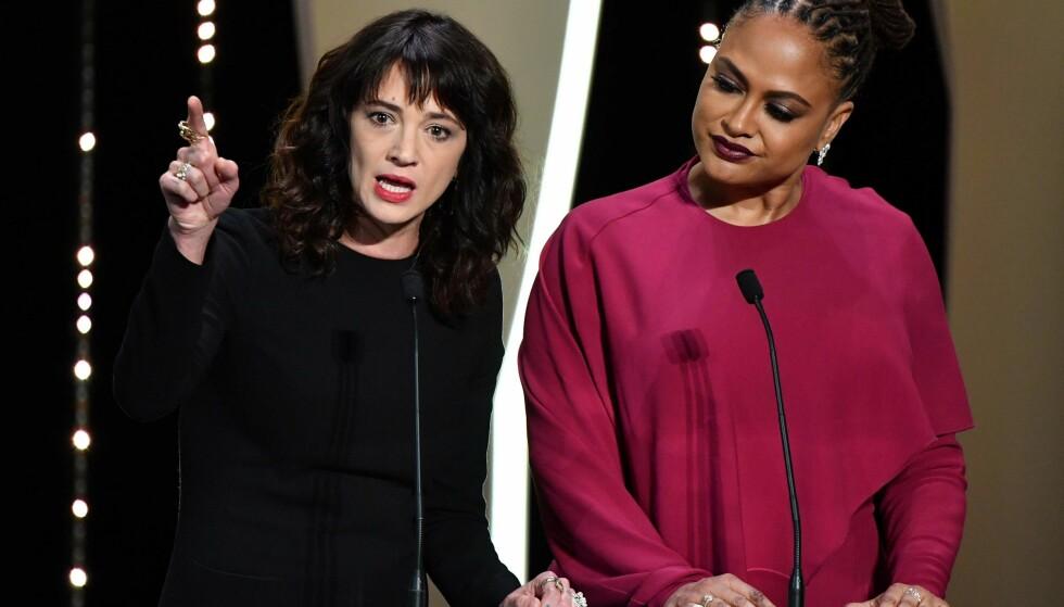 #METOO: Asia Argento kom med en kraftfull uttalelse på scenen i Cannes lørdag kveld: Foto: NTB scanpix / Reuters