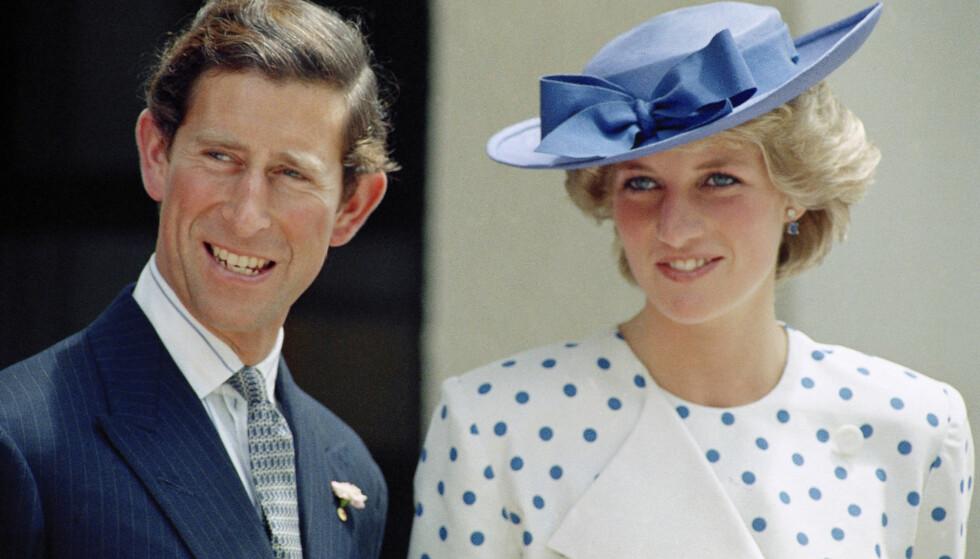 VAR GIFT: Prins Charles og Diana giftet seg i 1981, men gikk hver til sitt i 1992. Først fire år seinere ble skilsmissen offisiell. Foto: NTB scanpix