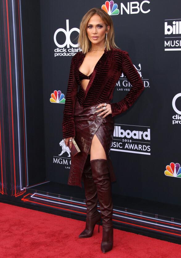 <strong>IKKE NOMINERT:</strong> Jennifer Lopez var også til stede under årets Billboard-utdeling. Foto: NTB Scanpix