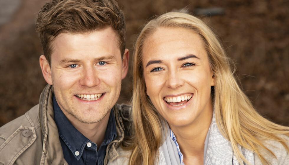 FORELSKET: Nicolay Ramm forteller at han måtte jobbe for å vinne Josephine Leine Granlies gunst. Tre år senere er de lykkelig forelsket og samboere. Foto: Tor Lindseth/ Se og Hør