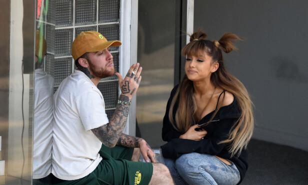 BRUDD: Tidligere denne måneden ble det kjent at musikerparet Ariana Grande og Mac Miller har gått hvert til sitt. Foto: Splash News / NTB Scanpix