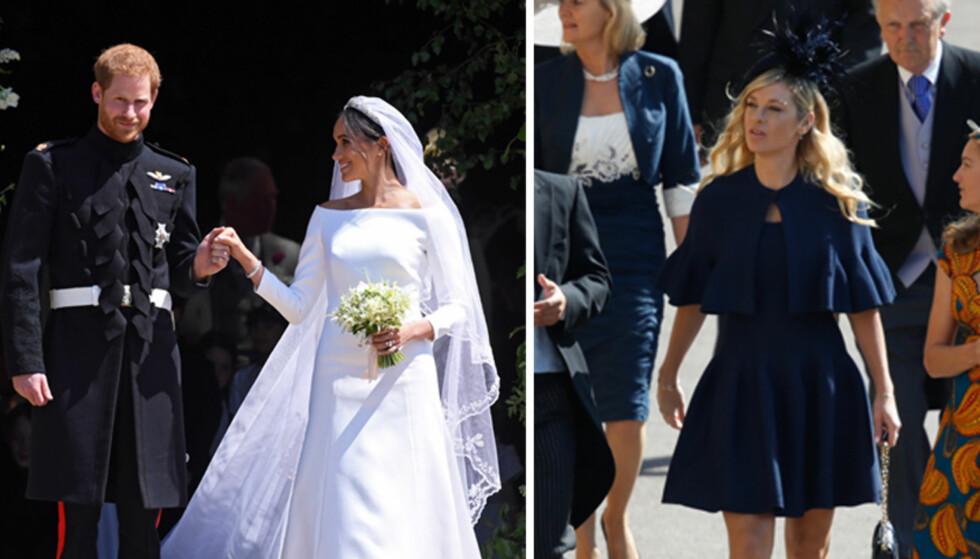 <strong>I TVIL:</strong> Chelsy Davy (t.h.) var angivelig svært nær å droppe turen til eksen prins Harrys bryllup forrige helg, da han giftet seg med TV-stjernen Meghan Markle. Foto: NTB Scanpix