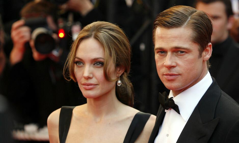 KRANGLER FREMDELES: Brad Pitt er bekymret for barna oppi skilsmisseoppgjøret. Han skal ifølge kilder være rasende på ekskona fordi hun holder skilsmissen offentlig. Foto: NTB Scanpix