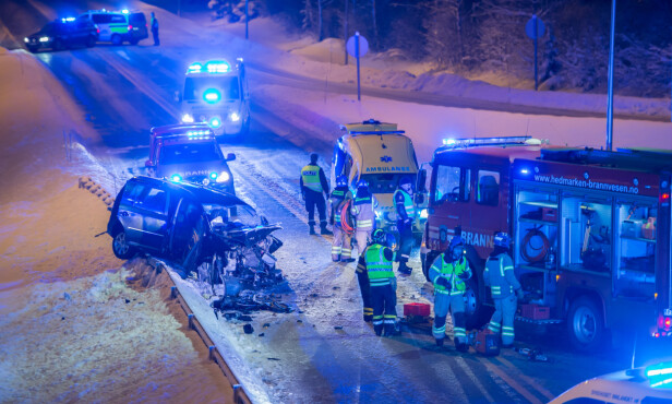 FRONTKOLLISJON: Sigvart Dagsland ble alvorlig skadd etter at han og to av hans bandkollegaer frontkolliderte med en annen bil i 80 km/t i januar. Foto: Lars Bryhn