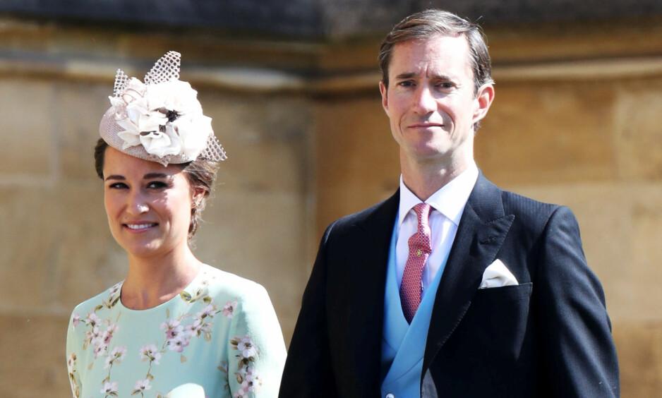 GRAVID: Søsteren til hertuginne Kate Middleton, Pippa, bekrefter at hun er gravid. Hun deler nyheten i en spalte hun selv har skrevet. Her fra bryllupet til prins Harry og Meghan Markle. Foto: NTB Scanpix