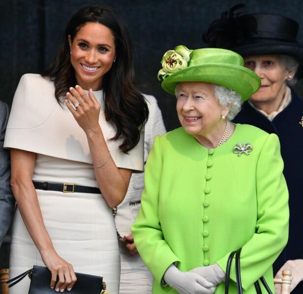 HAR FORMELT FORELDREANSVAR: Når Meghan blir mamma, er det ikke hun, men dronning Elizabeth som får det formelle foreldreansvaret for barnet. Foto: NTB scanpix