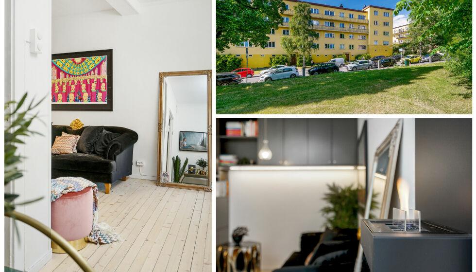 KOSELIG: 23-åringen har ved flere anledninger pusset opp leiligheten, som nå står som et unikt objekt på markedet. Foto: Carsten Müller / ZOVENFRA