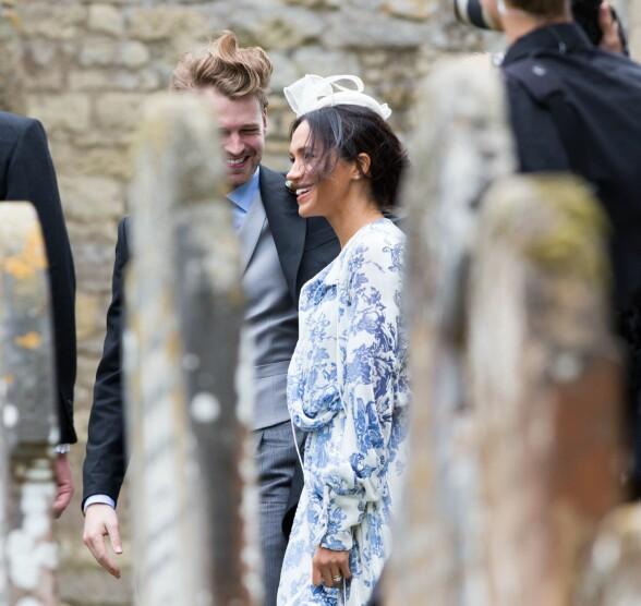 I GODT SELSKAP: Mye tyder på at Meghan har funnet sin rolle som hertuginne og prins Harrys kone. Foto: NTB Scanpix