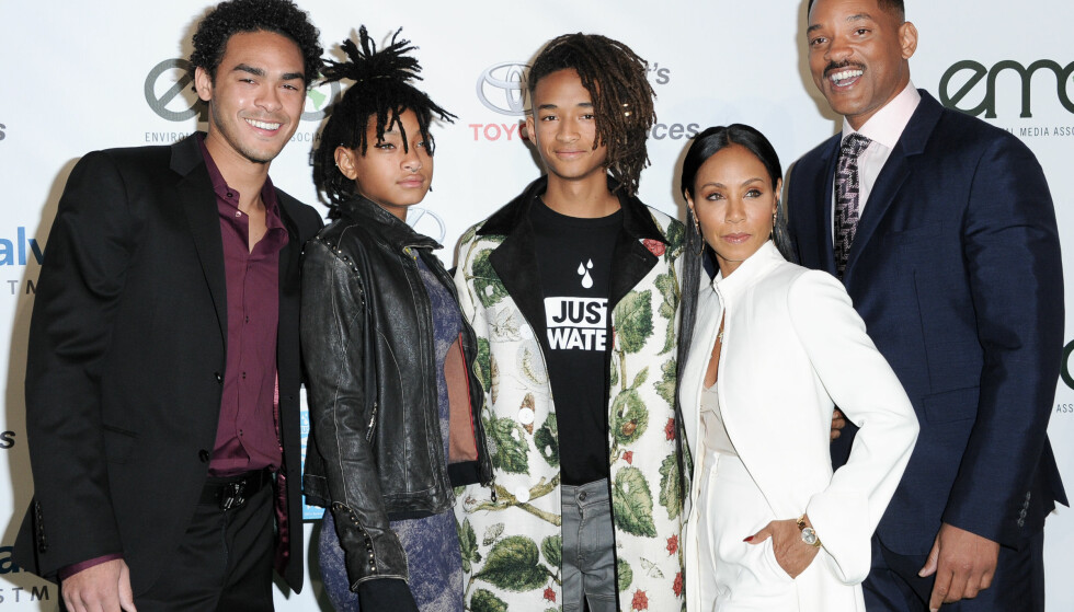 FAMILIEN: Fra venstre: Trey Smith, Willow Smith, Jaden Smith, Jada Pinkett Smith og Will Smith fotografert i 2016. Foto: NTB Scanpix