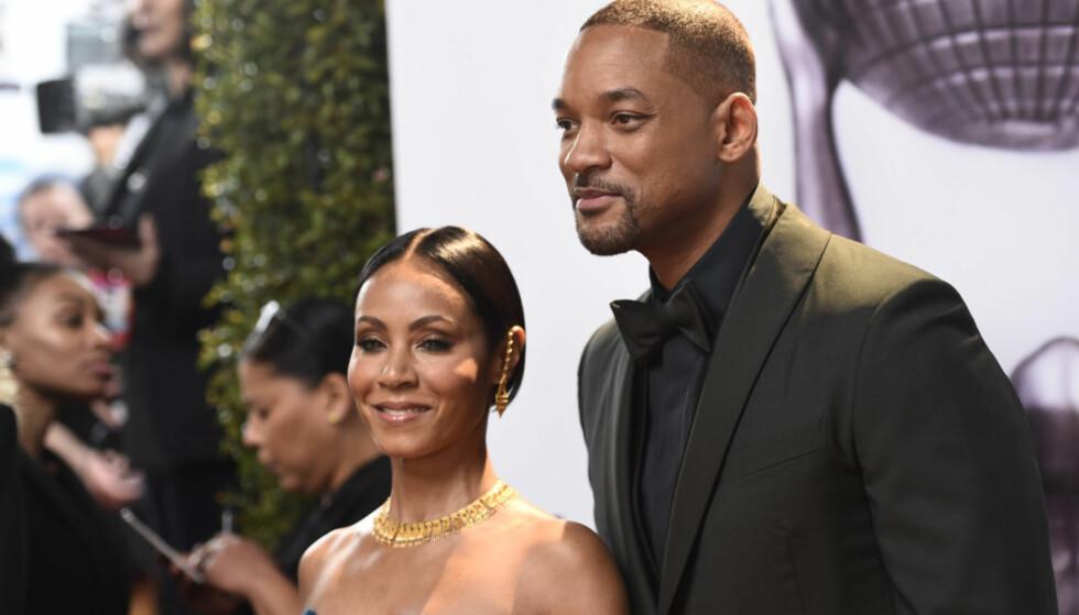 HOLDER SAMMEN: Skuespillerparet Jada Pinkett Smith (46) og Will Smith (49) har overhodet ingen planer om å gå fra hverandre. Foto: NTB Scanpix